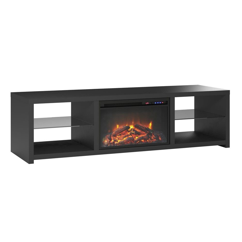 "Black Fireplace Tv Stand Awesome 70"" Bryan Fireplace Tv Stand Black Room & Joy In 2019"
