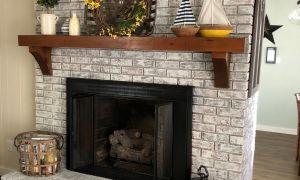 16 Unique Black Painted Brick Fireplace