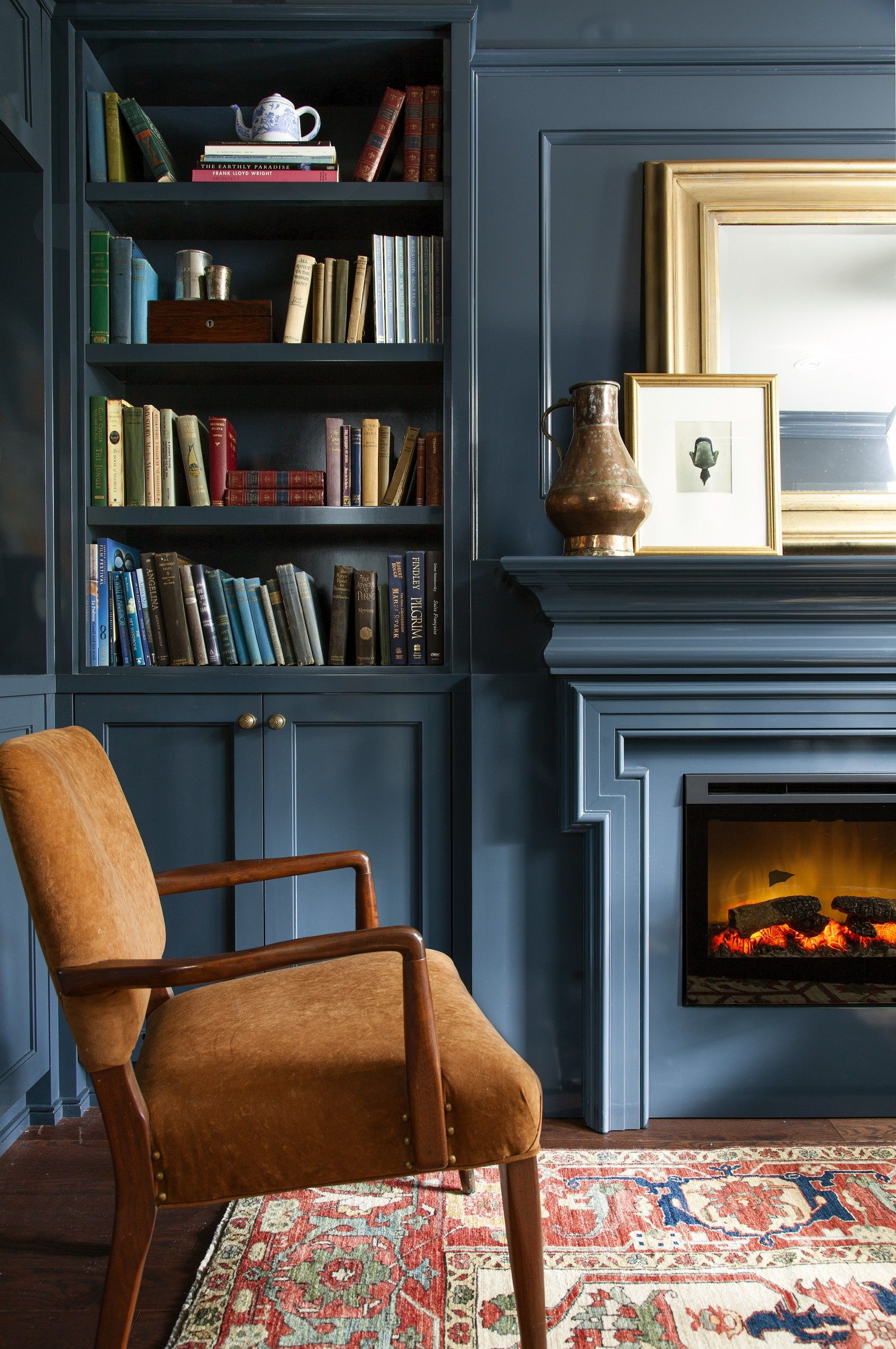 Blue Fireplace Awesome Image Result for Gray Den with Fireplace