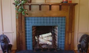 21 Beautiful Blue Fireplace Tile