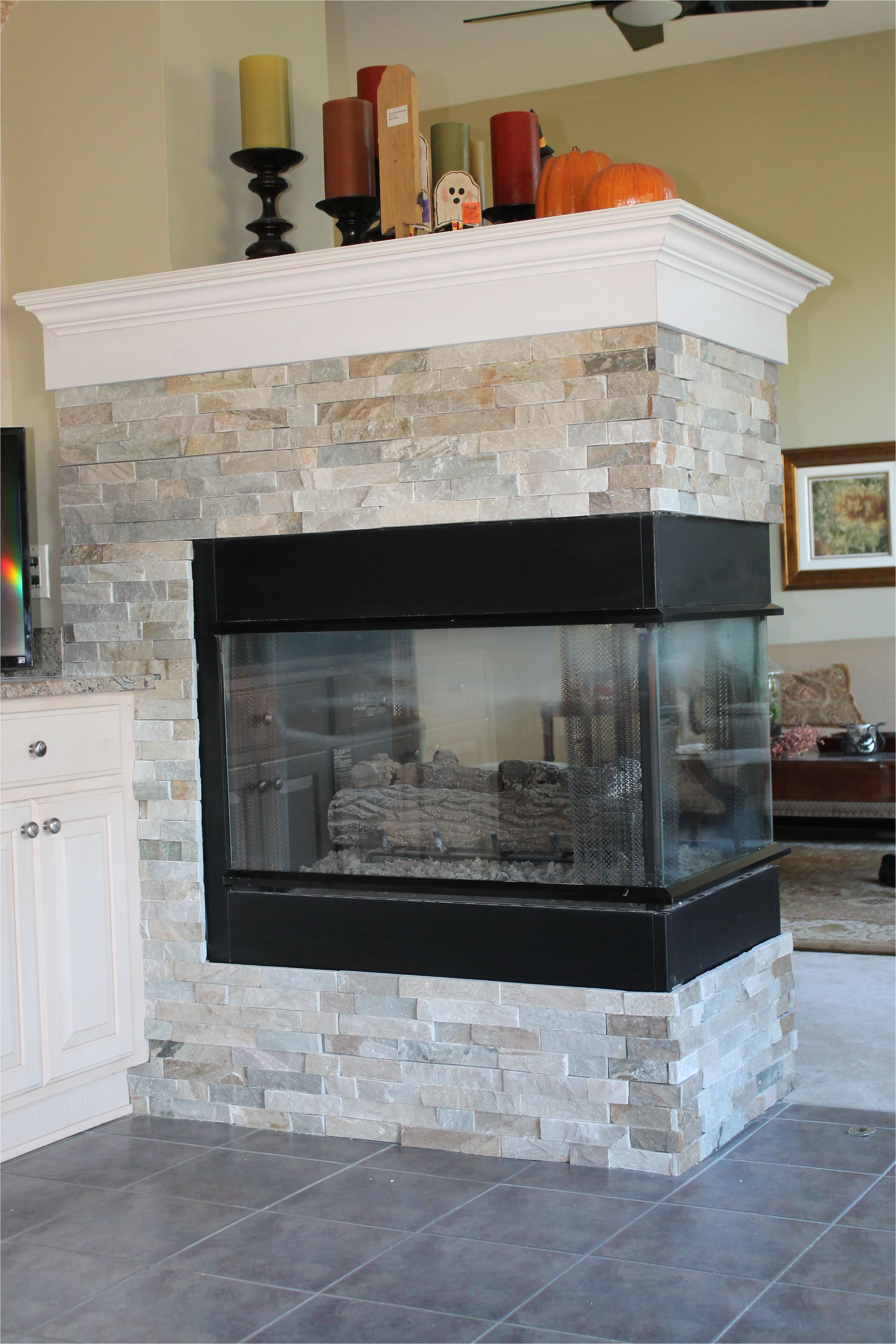 gas fireplace without mantle new gas fireplace with custom slate surround house pinterest of gas fireplace without mantle