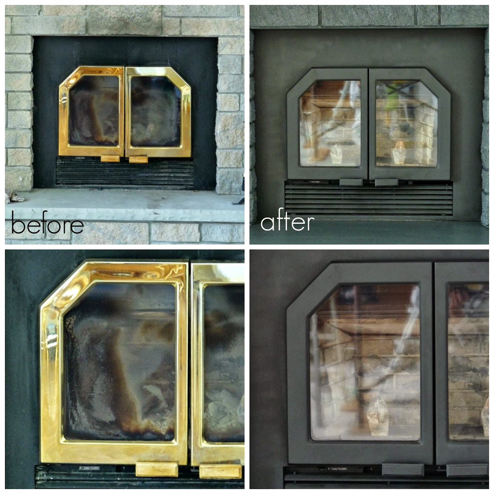 Fireplace Doors Before and After