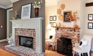 15 Lovely Brick Fireplace Decor