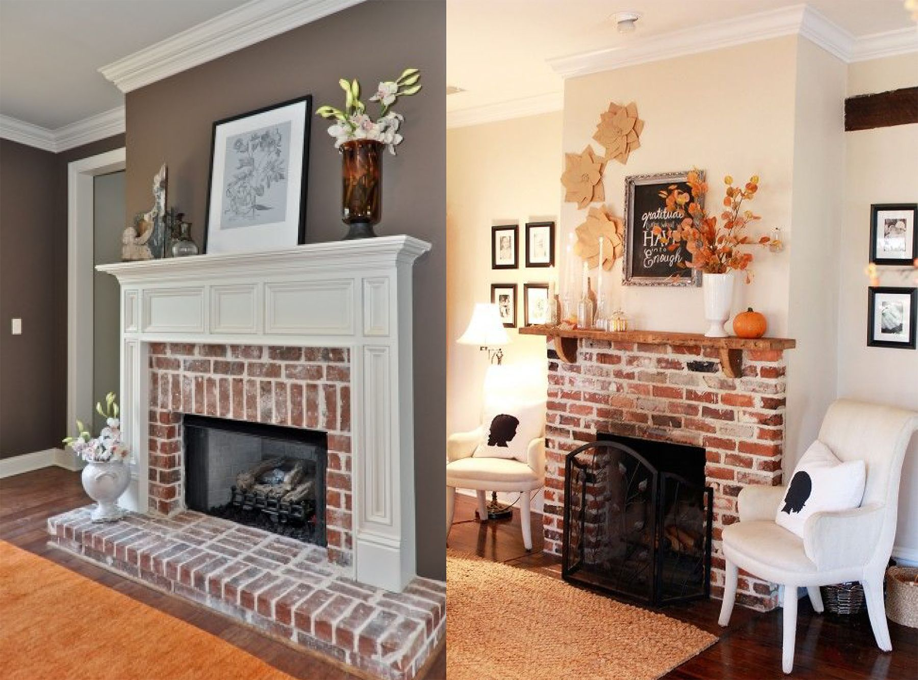 Brick Fireplace Hearth New Exposed Brick Fireplace Almond Home In 2019