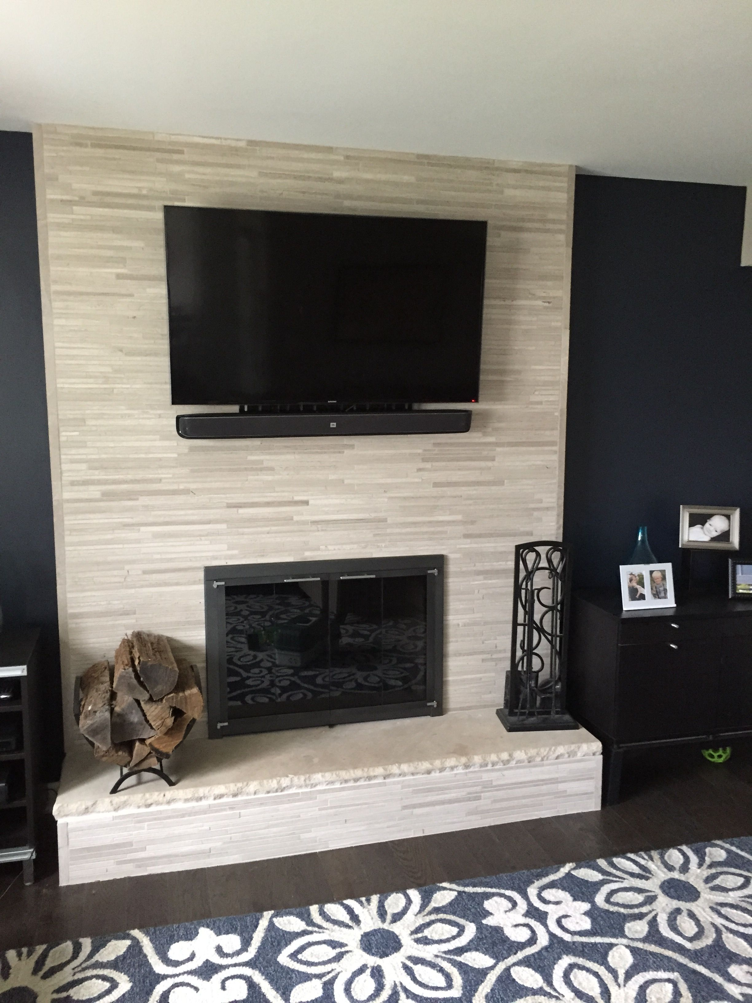 Brick Tile Fireplace Beautiful Our Old Fireplace Was 80 S 90 S Brick Veneer to Give It An