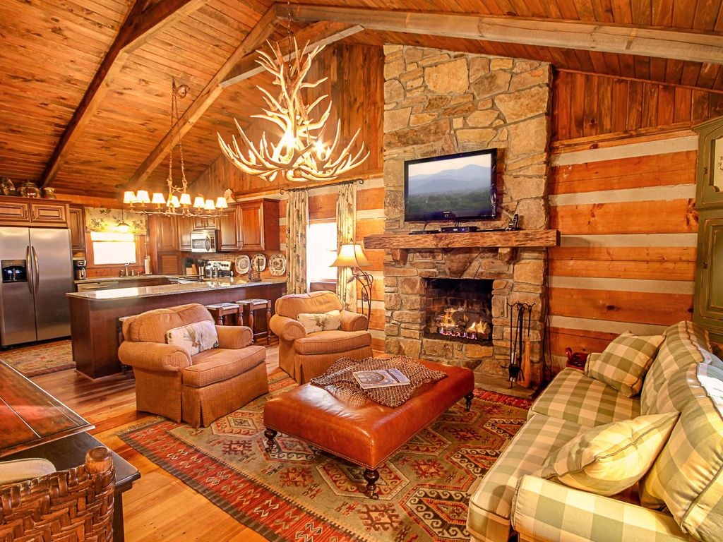 Cabin with Hot Tub and Fireplace Inspirational Elegant Cottage with Sunset Views Hot Tub Custom Kitchen King Bed Fire Pit River Access Boone
