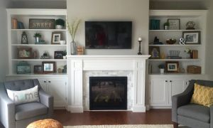 22 New Cabinets On Either Side Of Fireplace