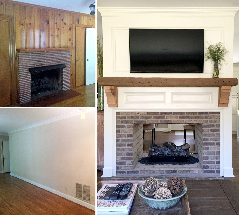 Can You Mount A Tv On A Brick Fireplace Lovely Fireplace Renovation Converting A Single Sided Fireplace to
