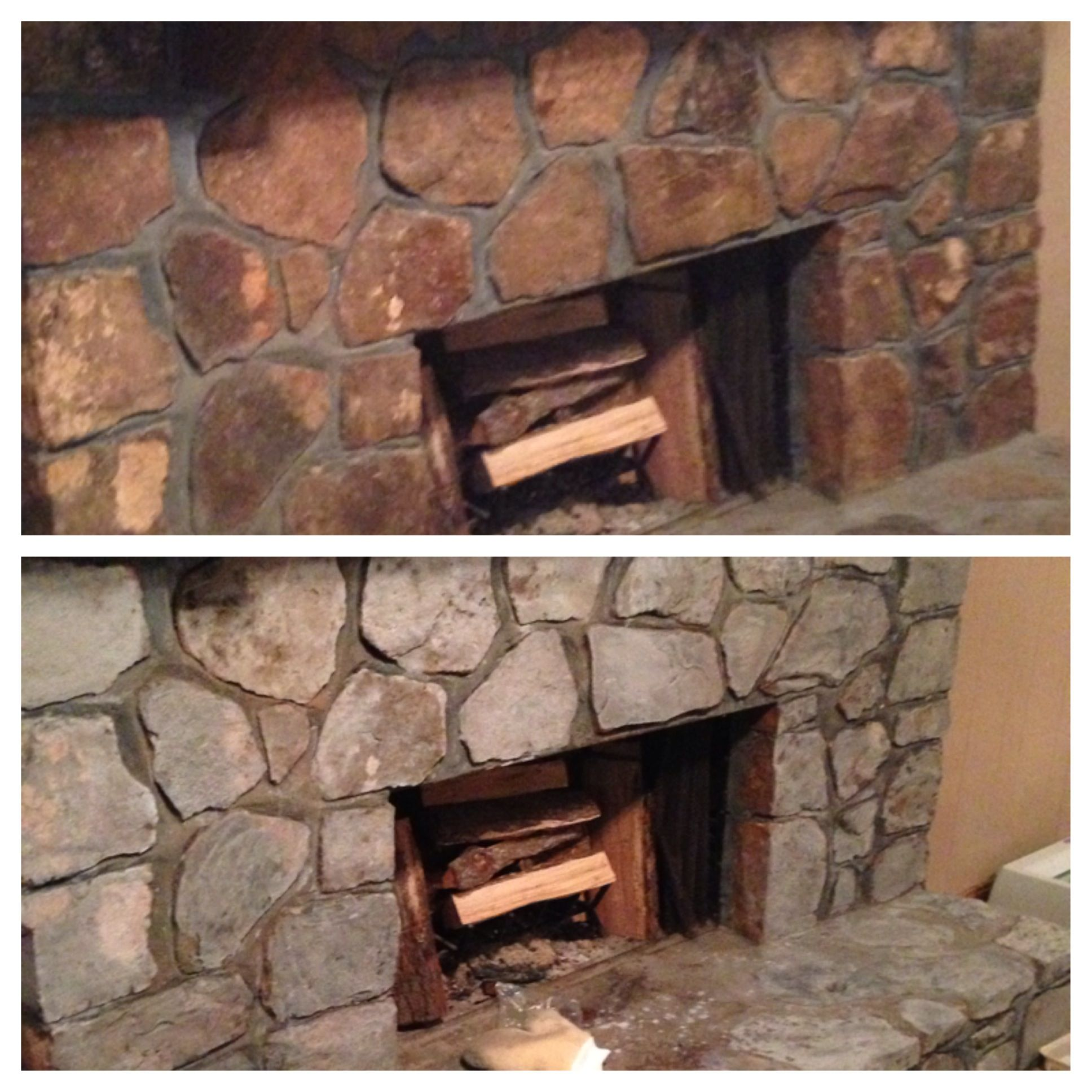 Can You Paint A Stone Fireplace New Diy Painted Rock Fireplace I Updated Our Rock Fireplace