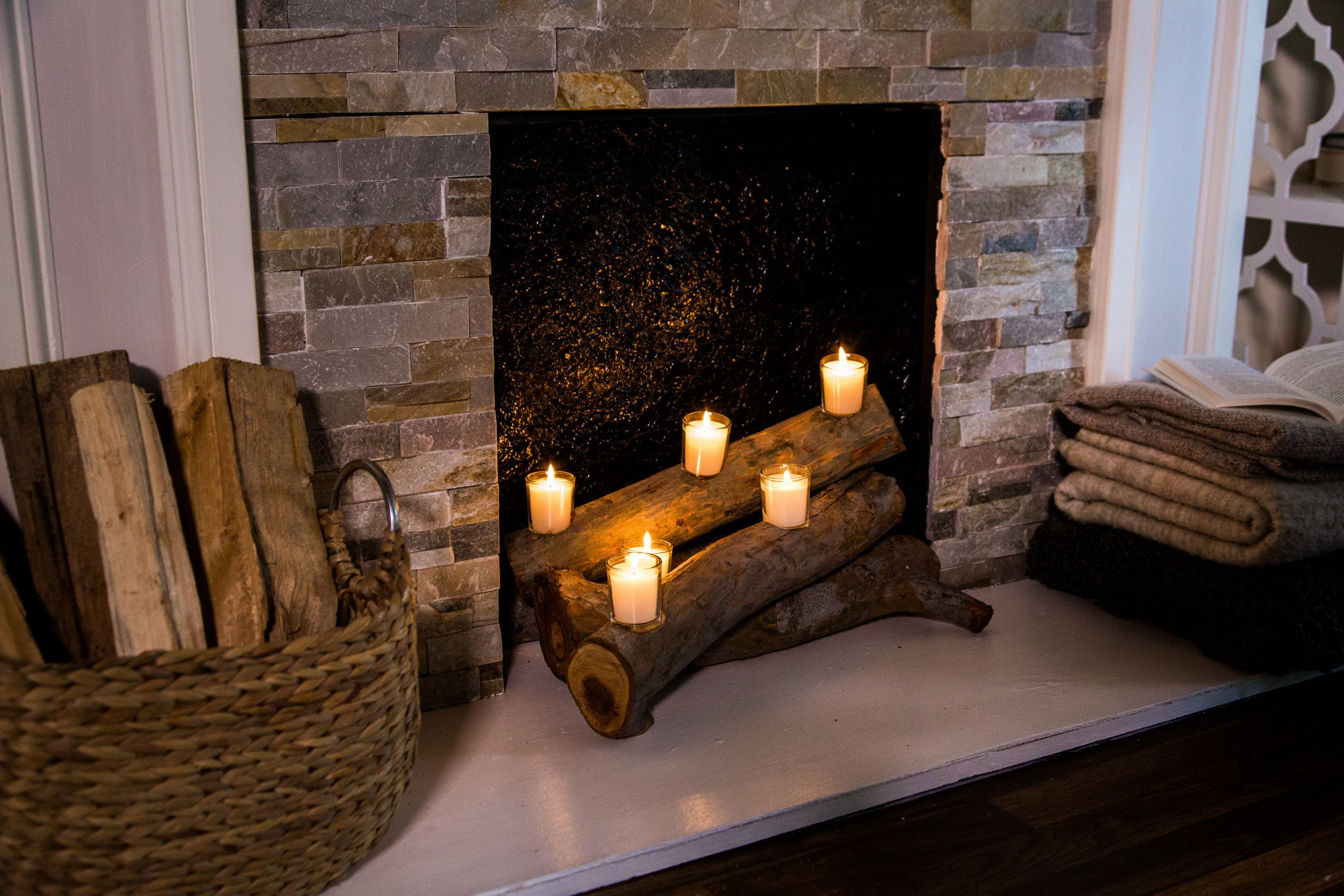 Candle Logs for Fireplace Inspirational Diy Faux Fireplace Logs Home & Family