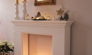 26 Fresh Candles Inside Fireplace
