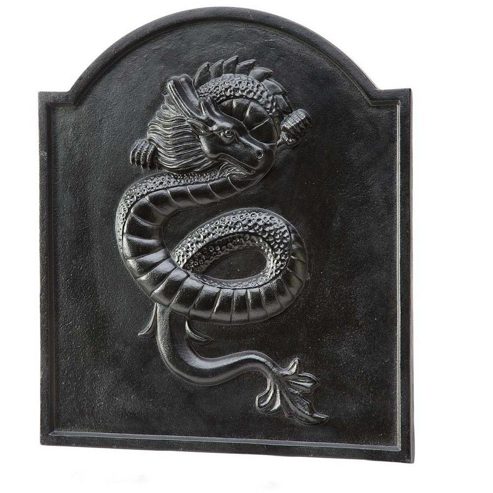 Cast Iron Fireplace tools Lovely Cast Iron Fireback with Dragon Design Plow & Hearth