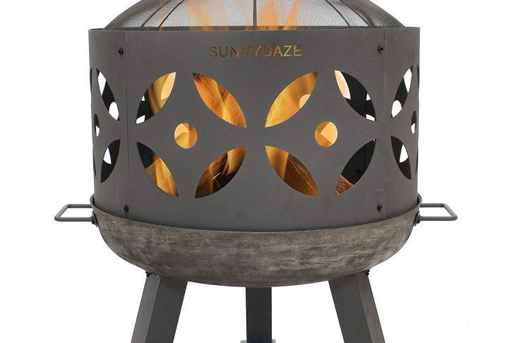 Cast Iron Outdoor Fireplace Beautiful Amazon Sunnydaze Retro Fire Pit Bowl Outdoor Cast