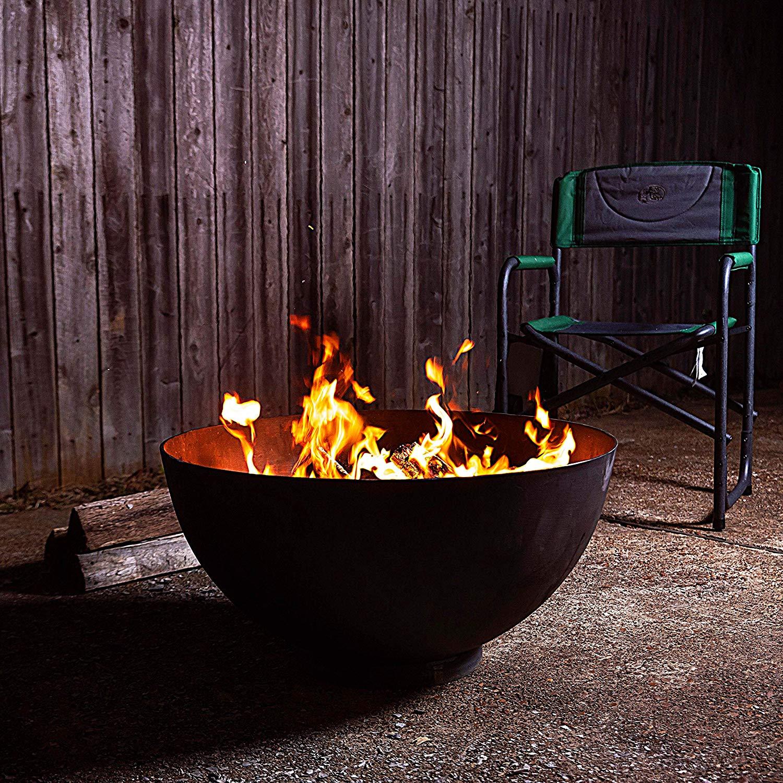 Cast Iron Outdoor Fireplace Elegant Titan Distributors Inc Hemisphere Fire Pit