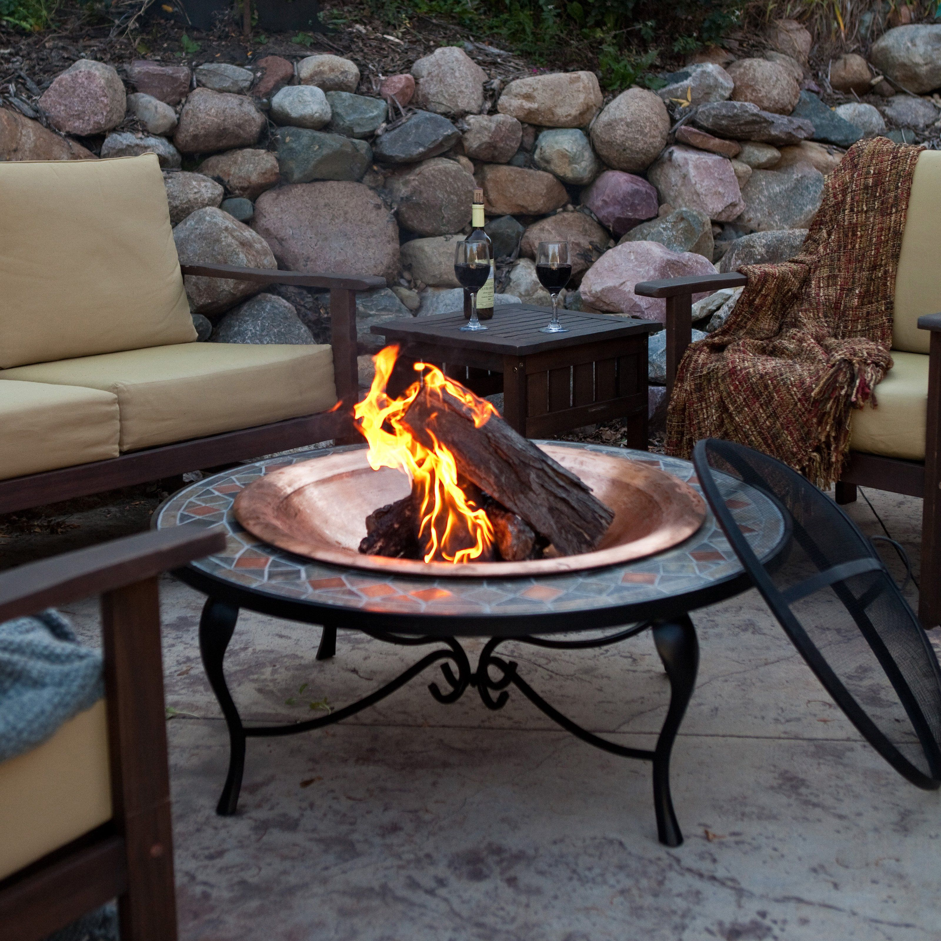 Cast Iron Outdoor Fireplace New Have to Have It Red Ember Mosaic 40 Inch Surround Fire Pit