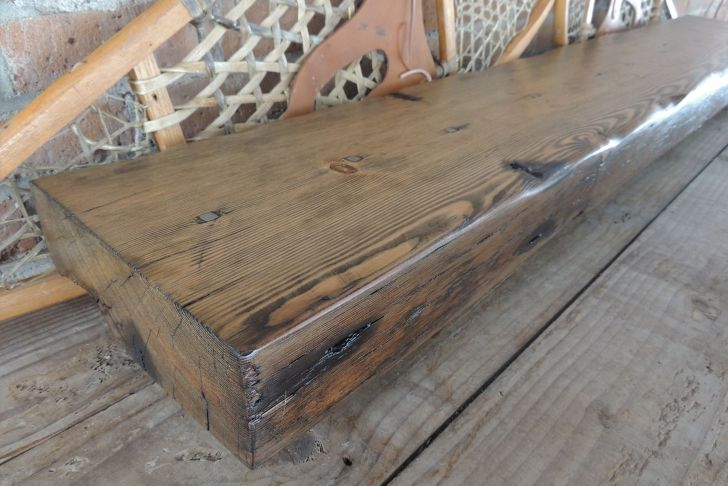 """Cedar Fireplace Mantel Luxury Reclaimed solid Wood Fireplace Mantel 65"""" X 10"""" X 4"""" Cedar"""