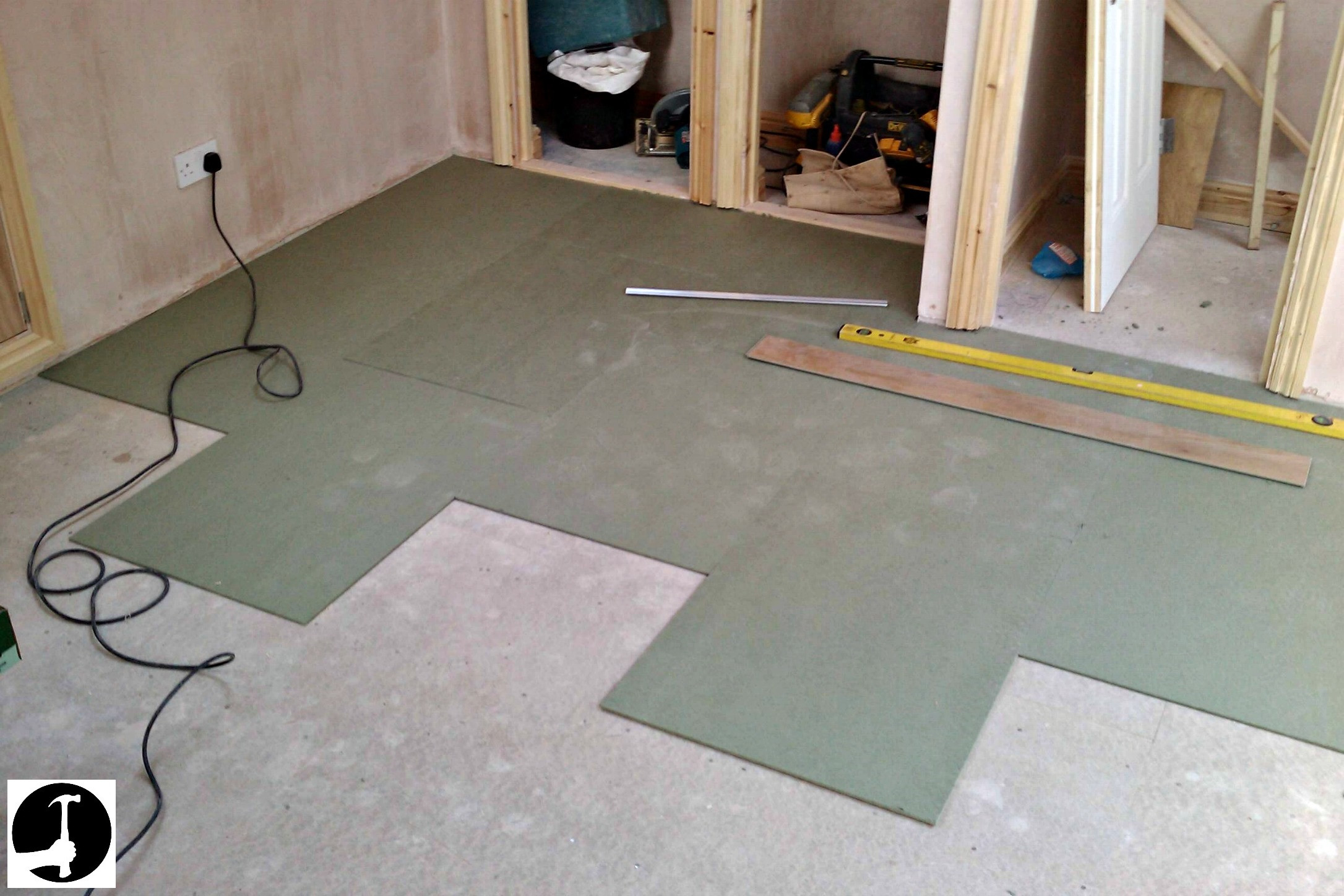 diy hardwood floor installation on concrete of how to install laminate flooring with ease glued glue less systems intended for laminate underlay