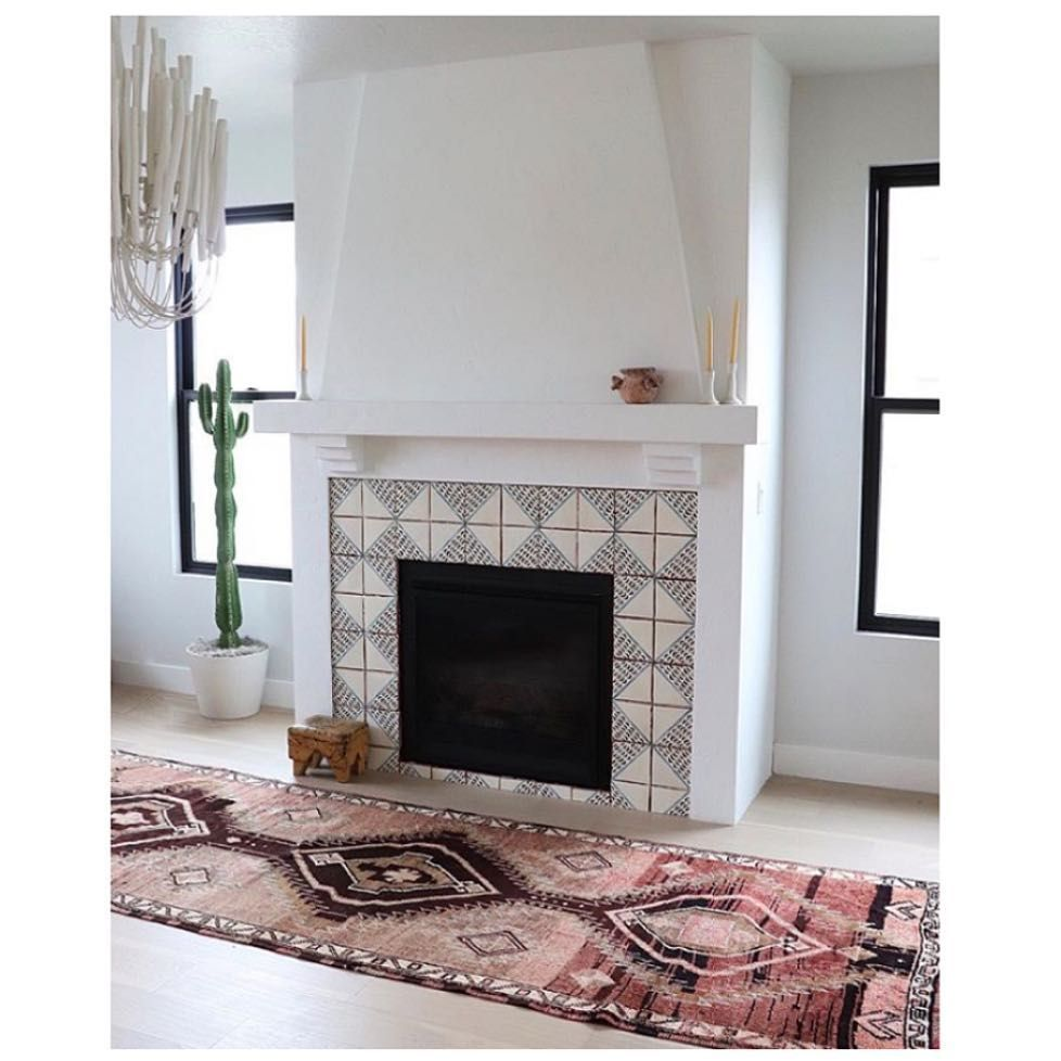 Cement Tile Fireplace Elegant Tabarka Studio Fireplace Surround In 2019