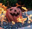 Ceramic Fireplace Balls Elegant Lakeview Fireproof Fire Pit Pumpkin Gas Log Halloween Decor