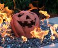 Ceramic Fireplace Balls Elegant Lakeview Fireproof Fire Pit Pumpkin Gas Log Halloween Decor