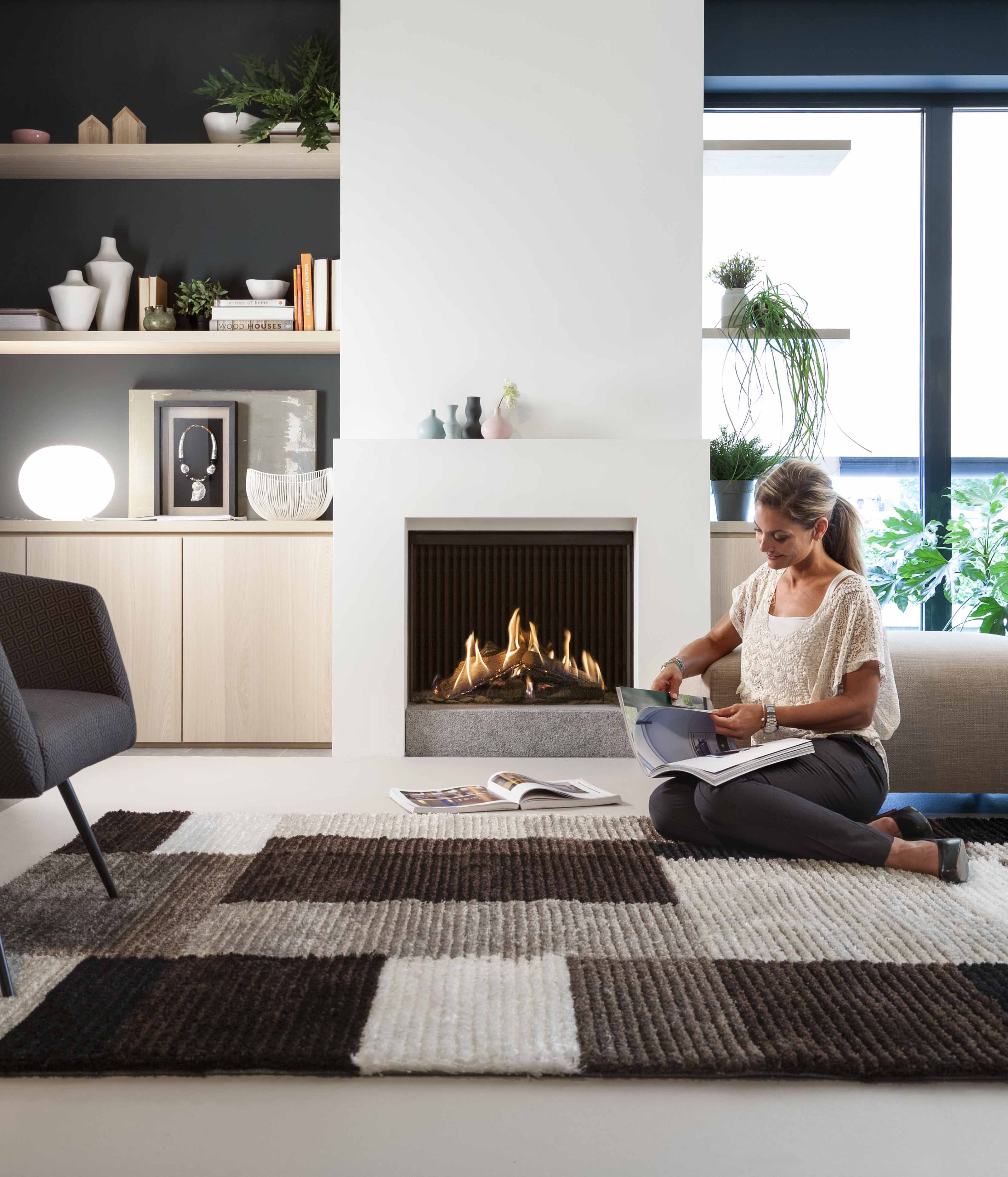 Chairs In Front Of Fireplace Elegant Kalfire Gp75 59f Closed Gas Fire Front Model