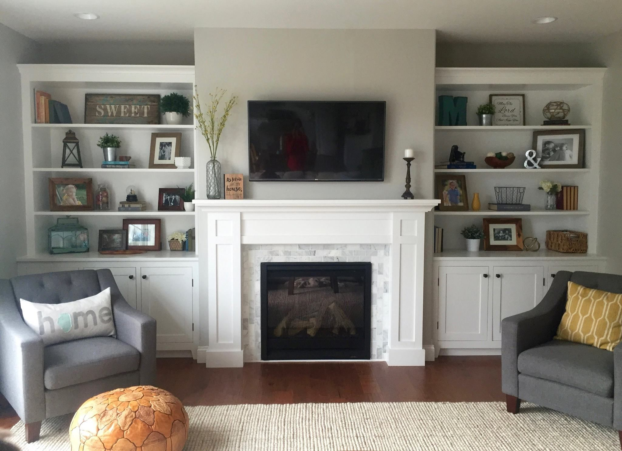 Chairs In Front Of Fireplace Fresh Instructions to Build This Fireplace Mantel with Built In