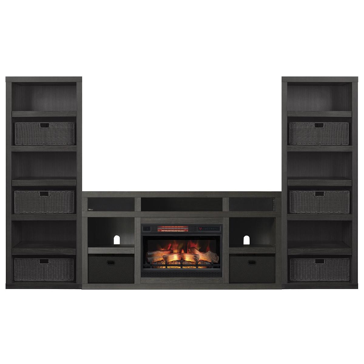 Chairs In Front Of Fireplace Inspirational Fabio Flames Greatlin 3 Piece Fireplace Entertainment Wall