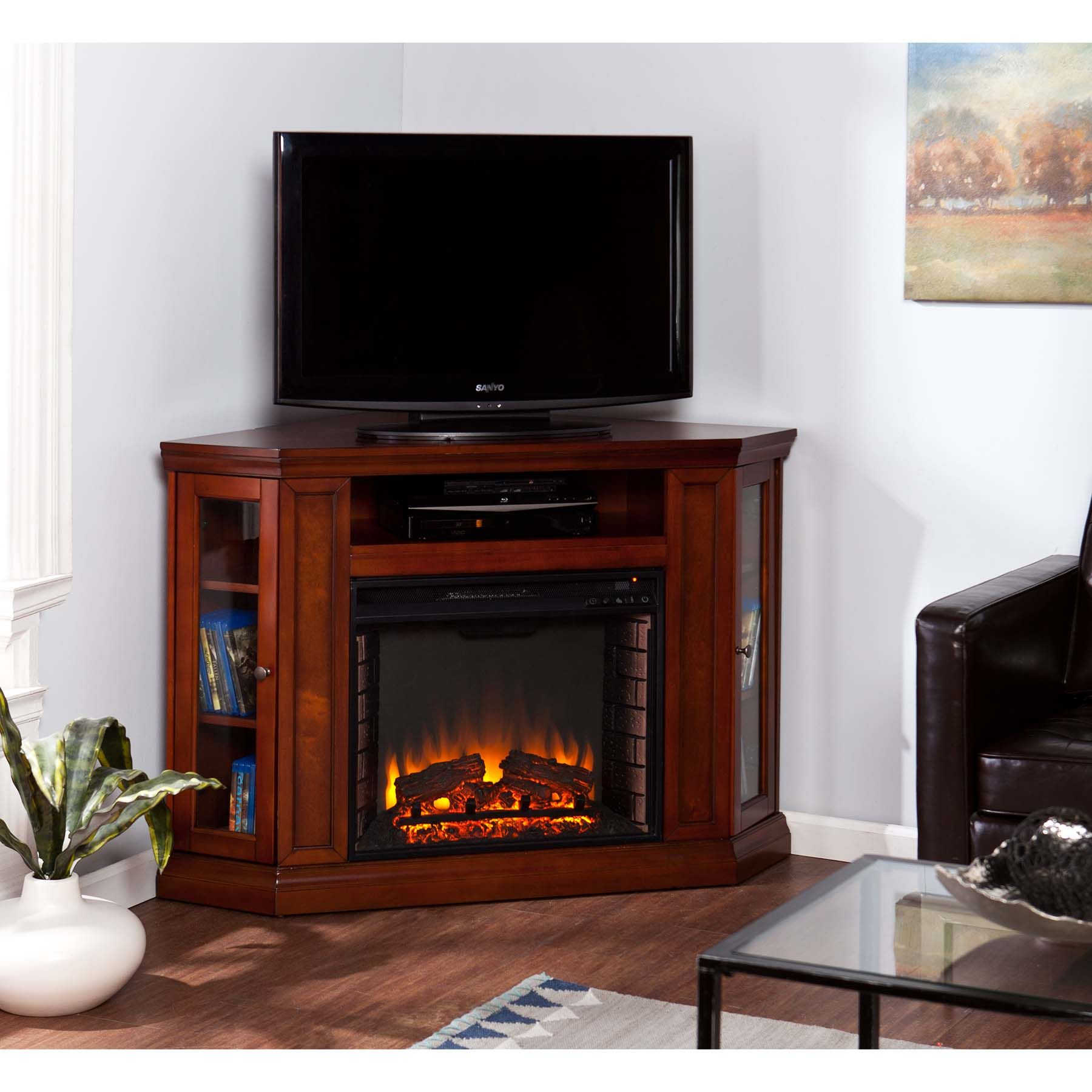 Cherry Wood Electric Fireplace Beautiful Elegantly Crafted Rustic Electric Fireplaces