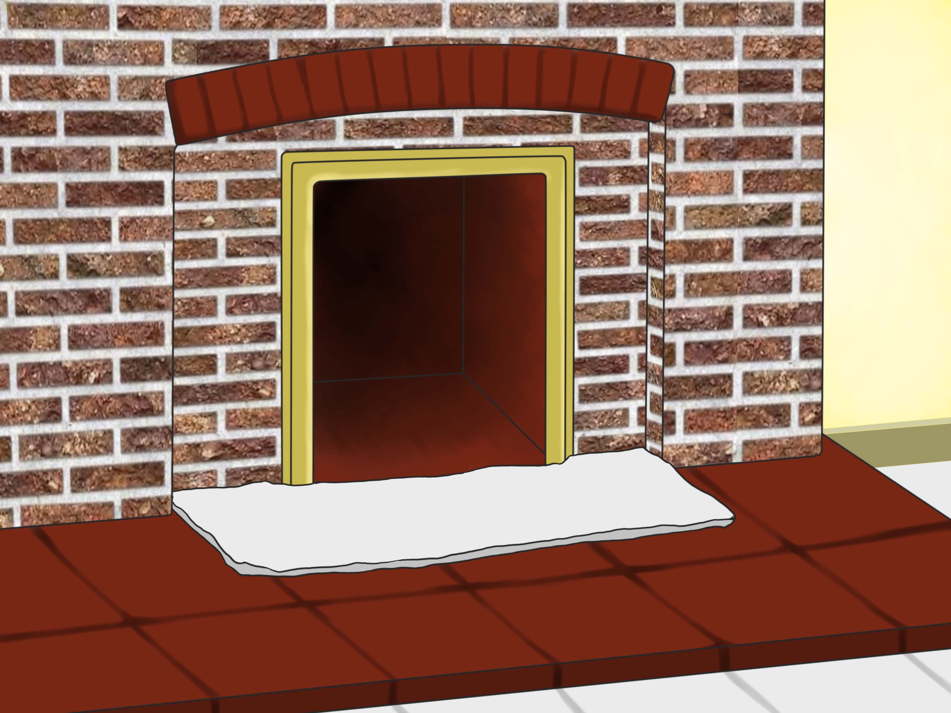 Cleaning soot Off Brick Fireplace Lovely How to Clean soot From Brick with Wikihow
