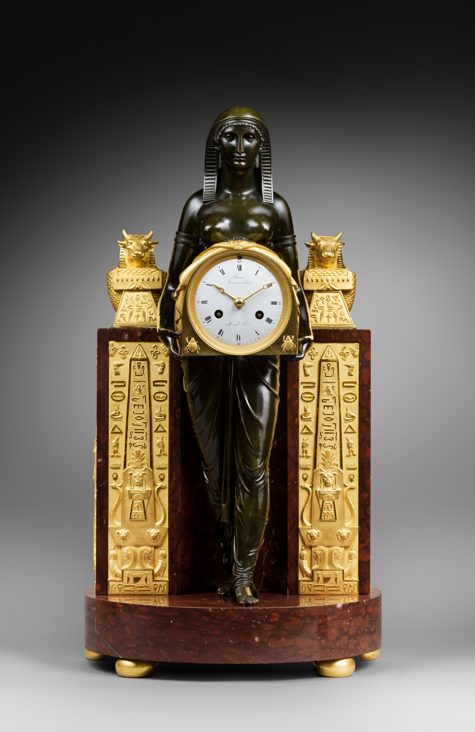 Clock Over Fireplace Awesome Mesnil An Empire Pendule   L Egyptienne Movement by Mesnil