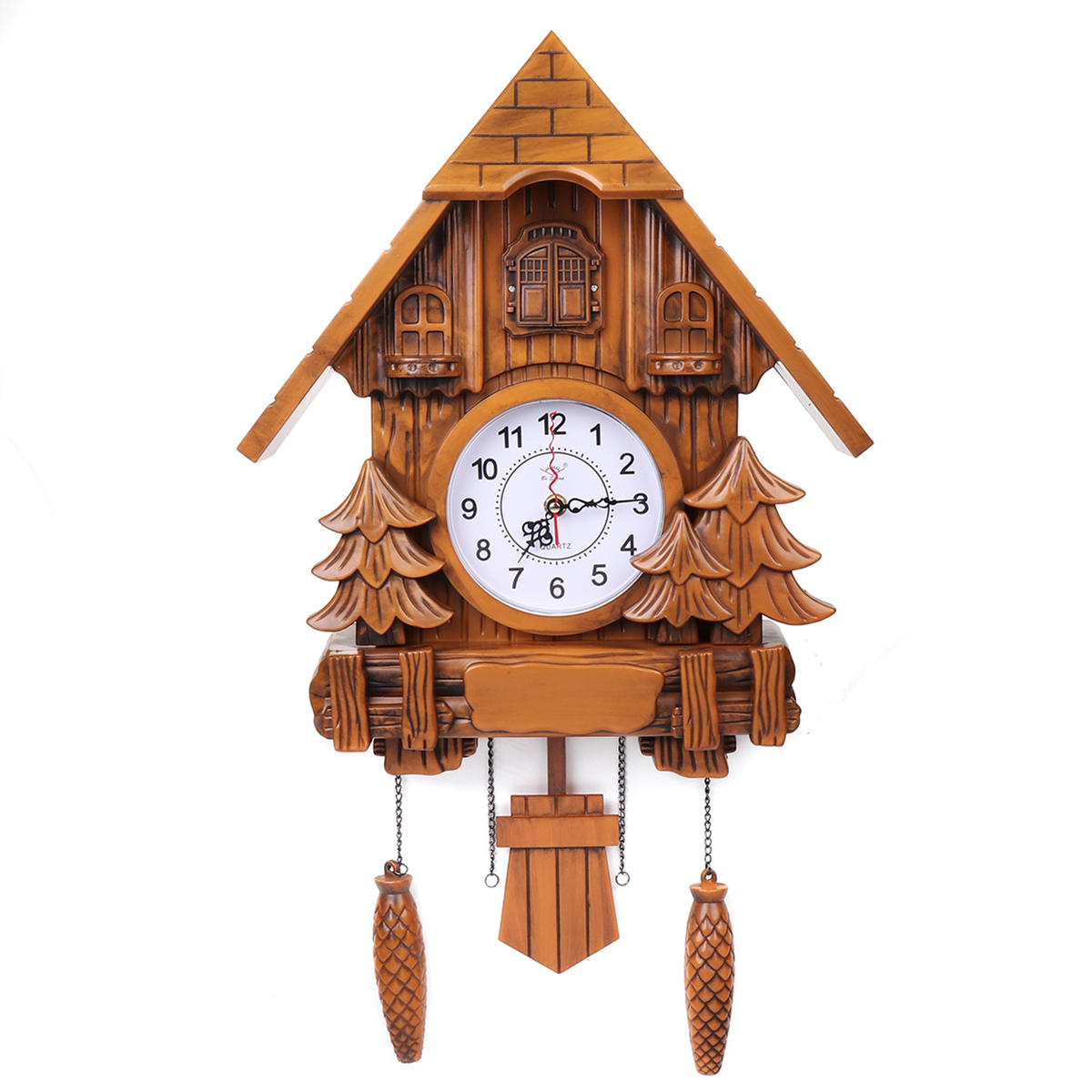 Clock Over Fireplace Beautiful Vintage Black Cuckoo Wall Clock forest Swing Wood Handmade Kitchen Home Decor