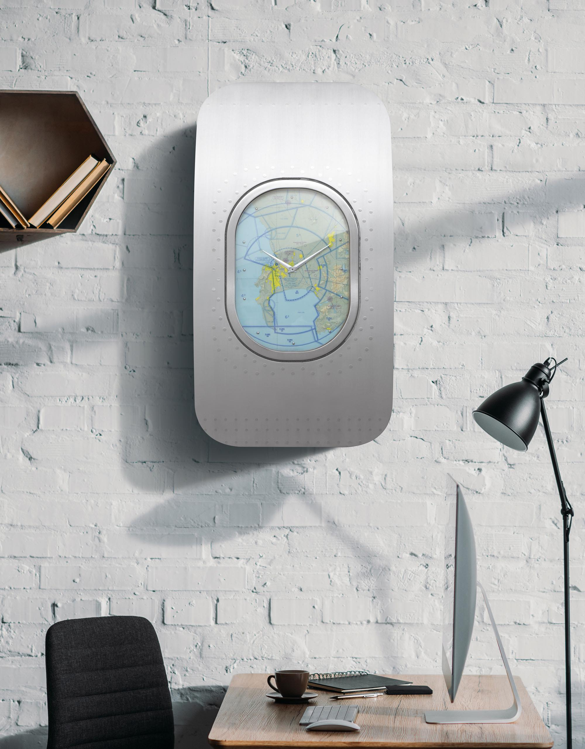 "Clock Over Fireplace Elegant Fuselage Clock ""globetrotter"""
