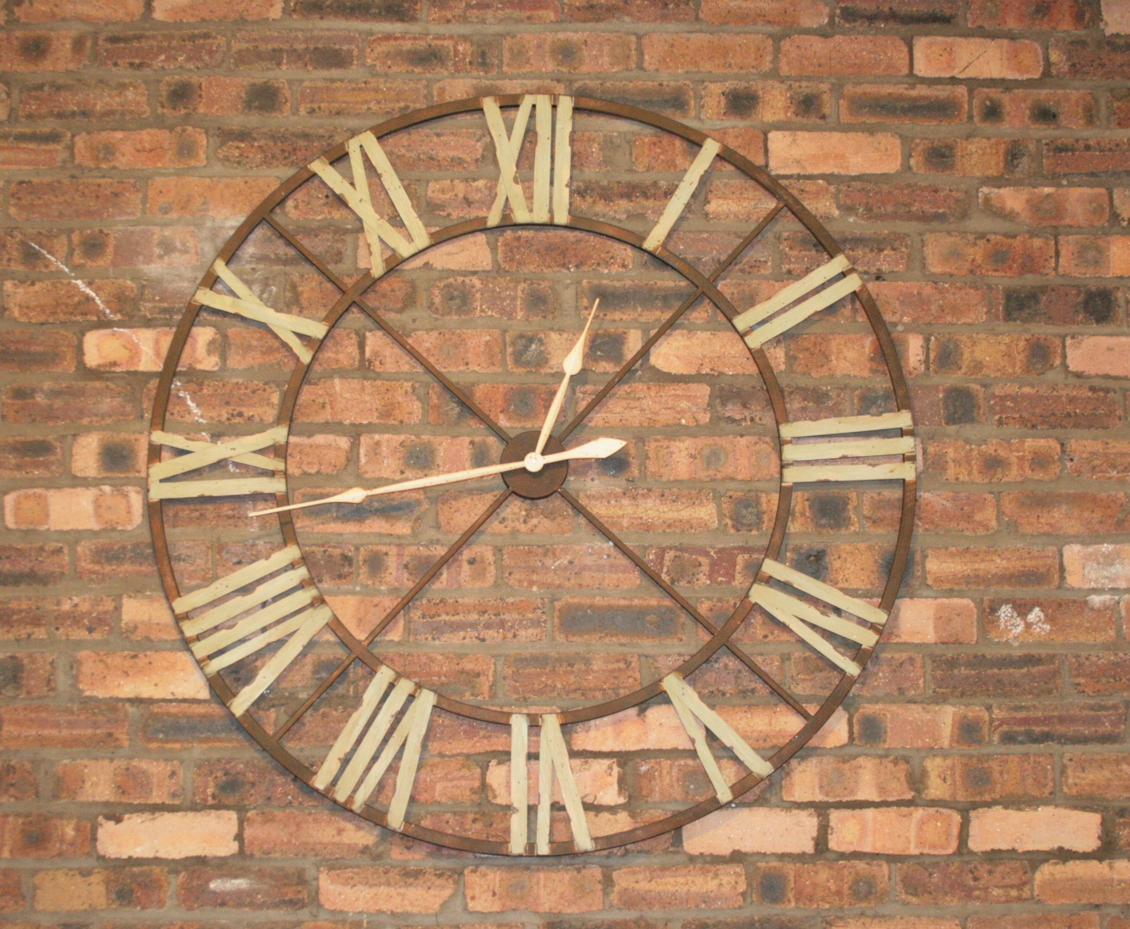 Clock Over Fireplace Elegant Iron Wall Clock with Roman Numerals Home Decor