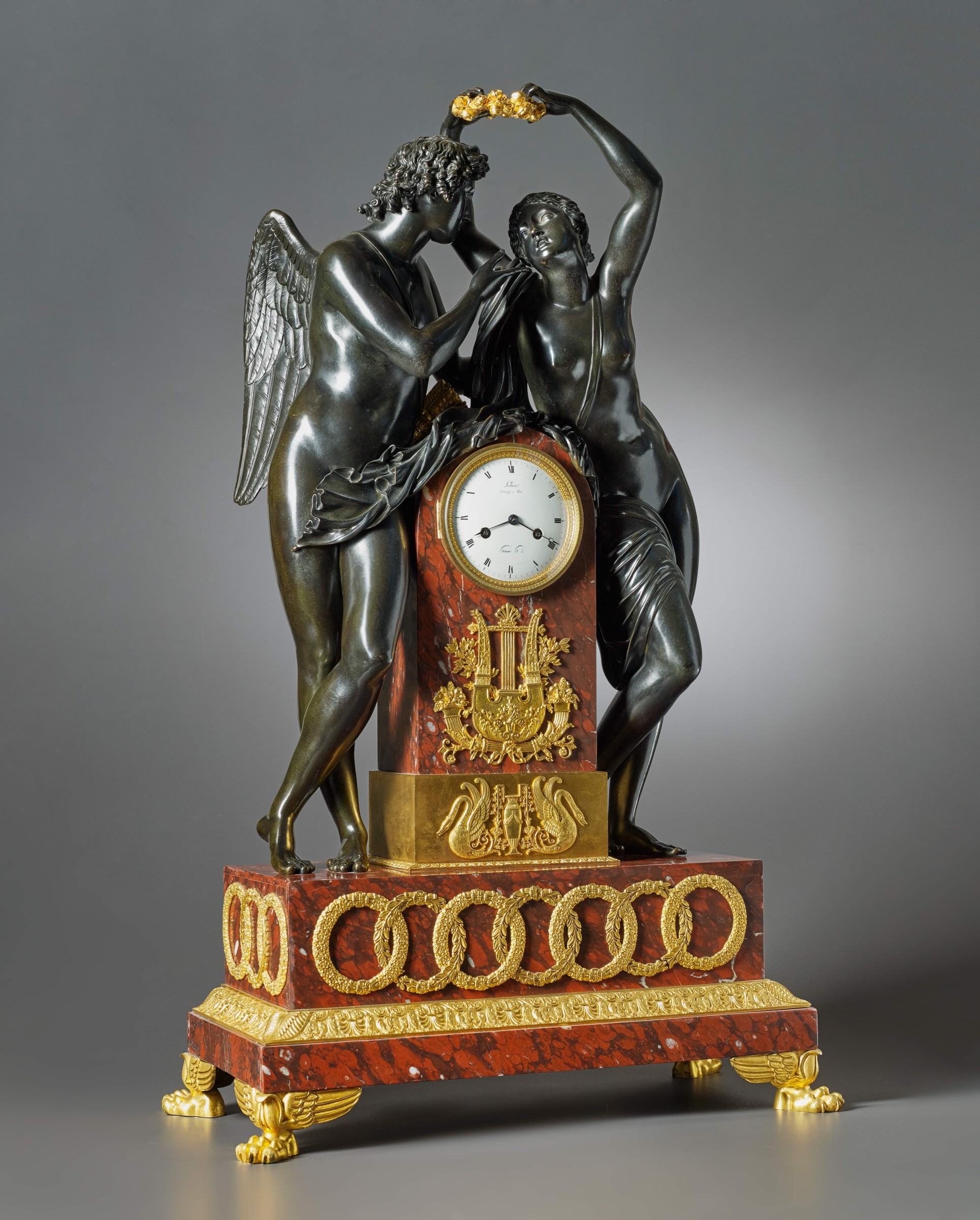 Clock Over Fireplace Fresh Claude Hémon An Empire Figural Clock by Claude Hémon
