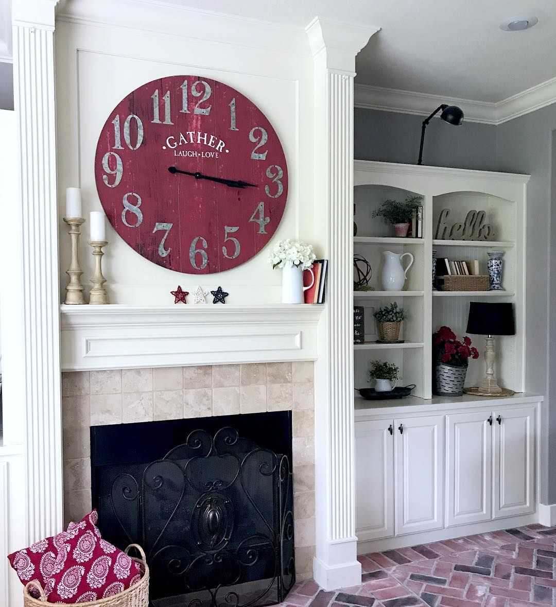 Clock Over Fireplace Inspirational No Photo Description Available Etsy Shop In 2019