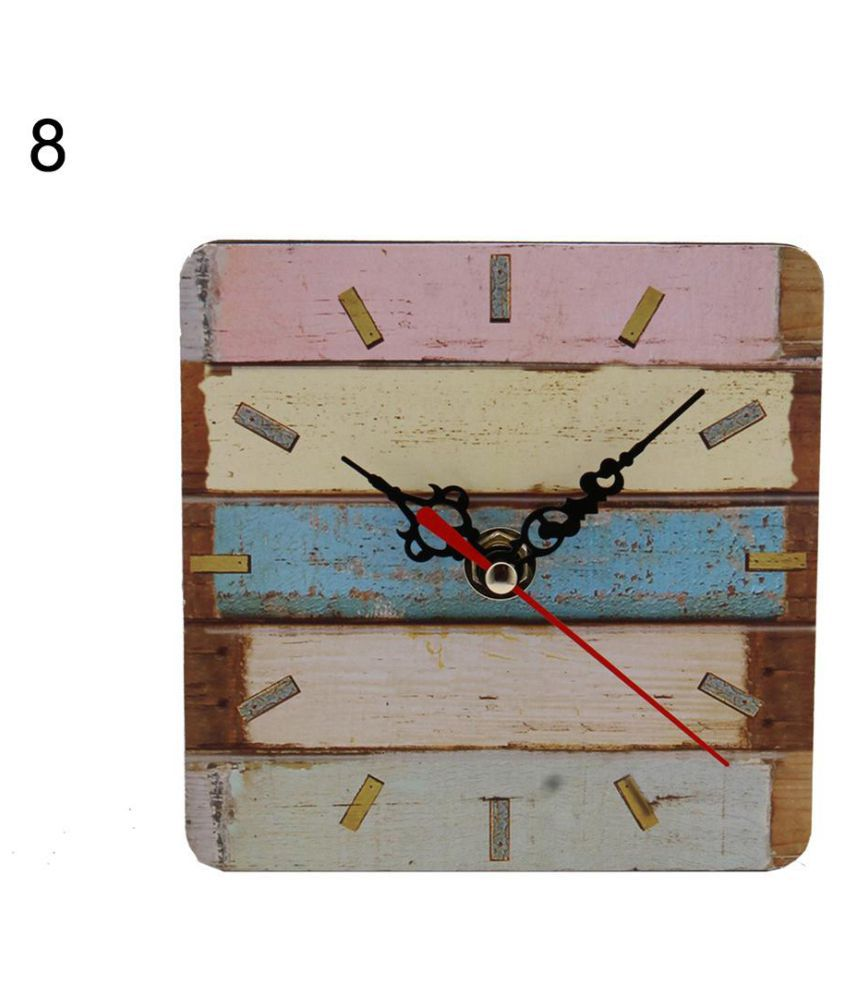 Clock Over Fireplace Inspirational Vintage Wooden Round Square Analog Wall Clock Home Fice Art Decor Gift
