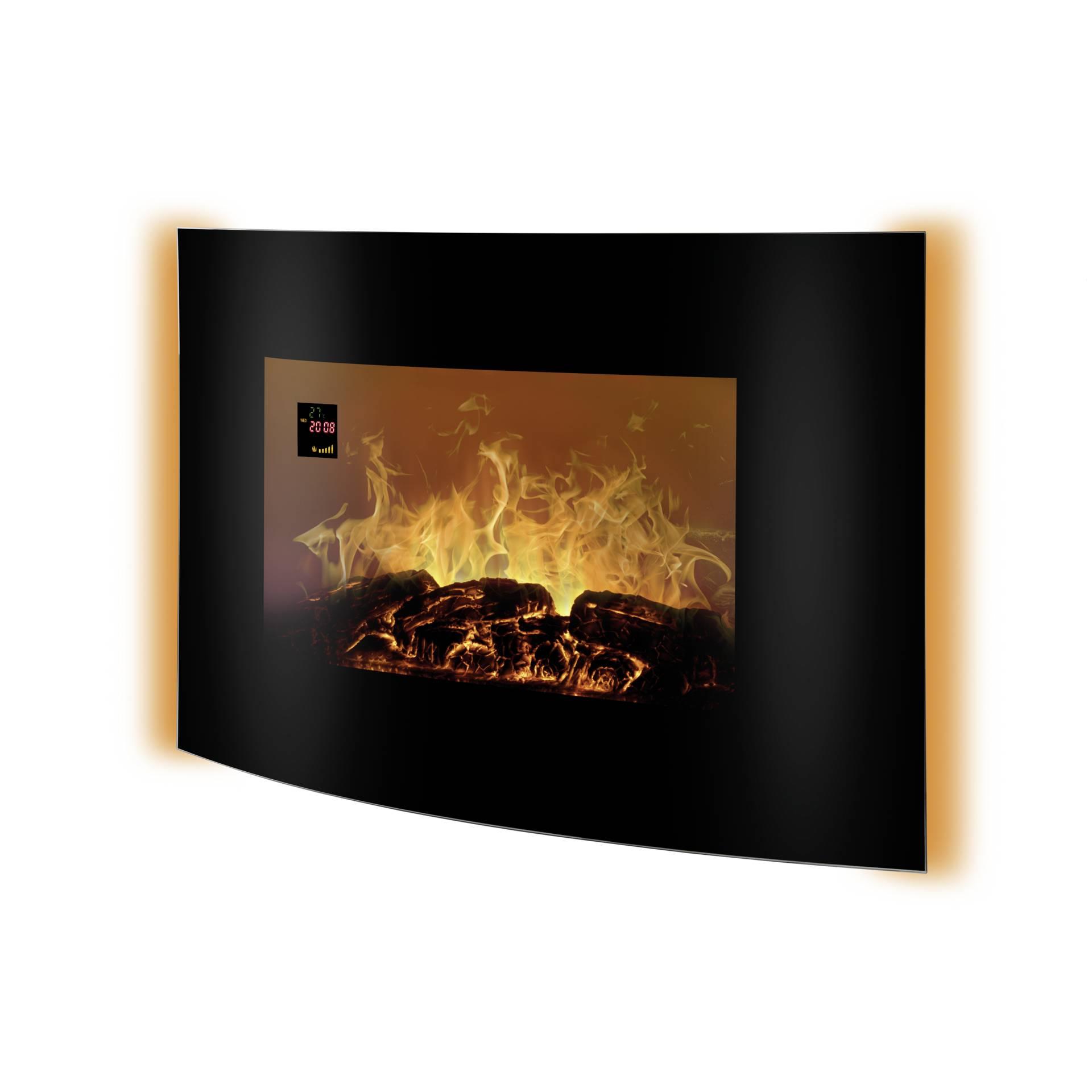 Clock Over Fireplace Lovely Bomann Ek 6021 Cb Black Electric Fireplace Heater
