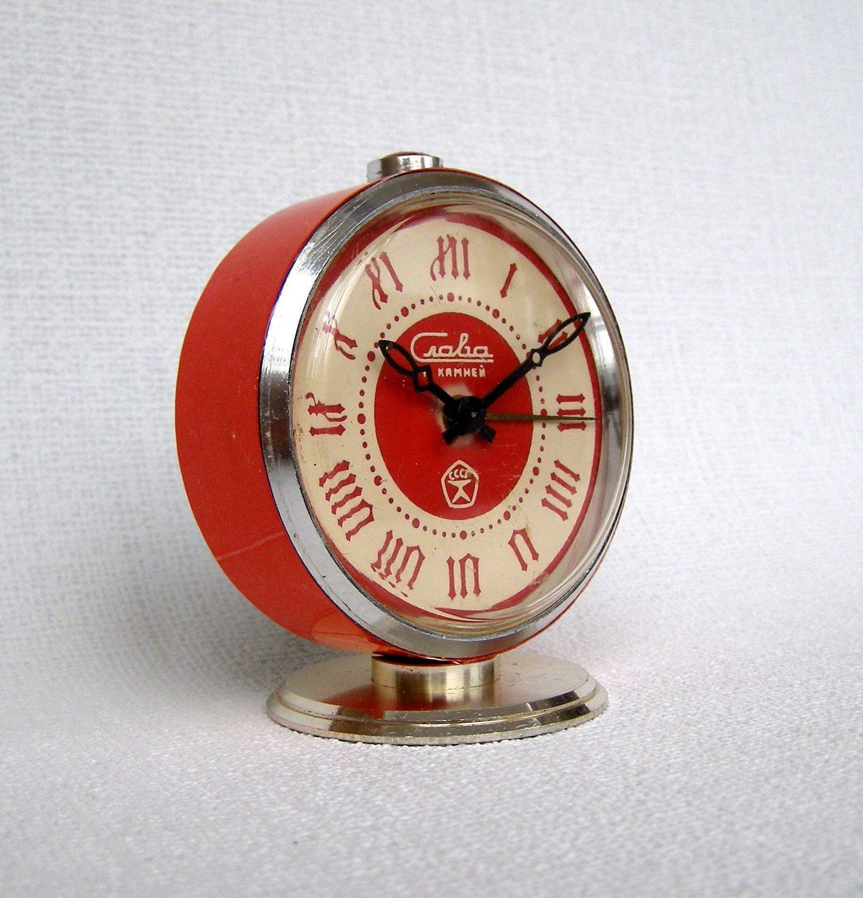 Clock Over Fireplace Luxury soviet Alarm Clock Desk Clock Ussr Vintage Clock Slava