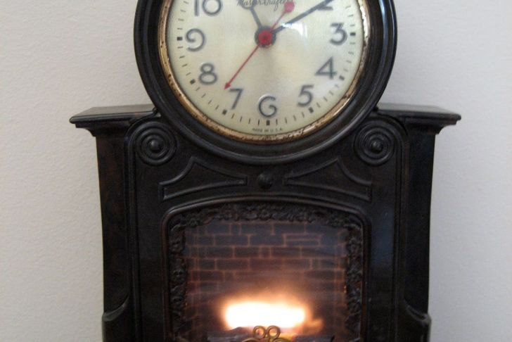 Clock Over Fireplace Luxury Vintage Mastercrafters Animated Fireplace Clock 1950s