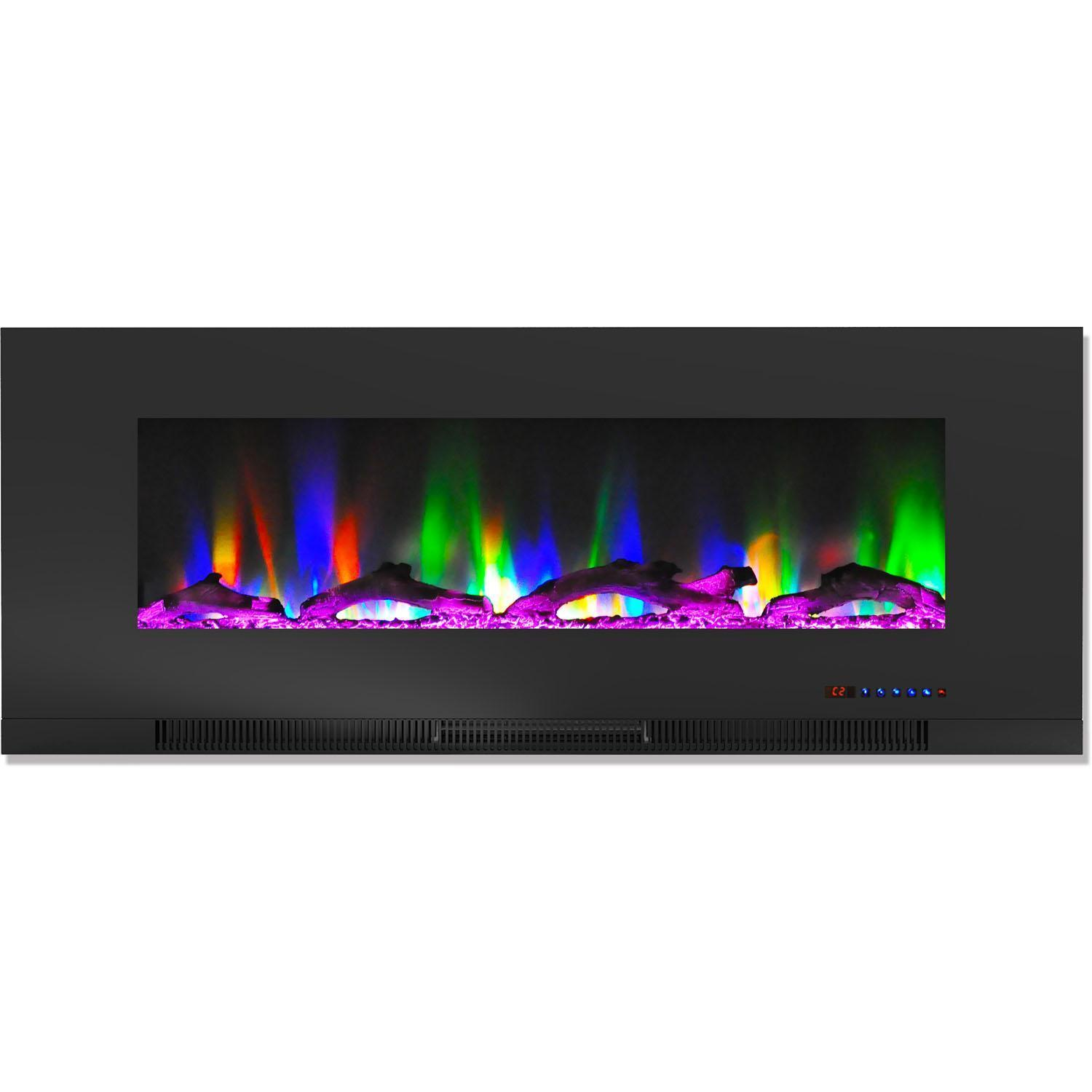Color Changing Fireplace Beautiful Cambridge Cam50wmef 2blk 50 In Wall Mount Electric Fireplace Black