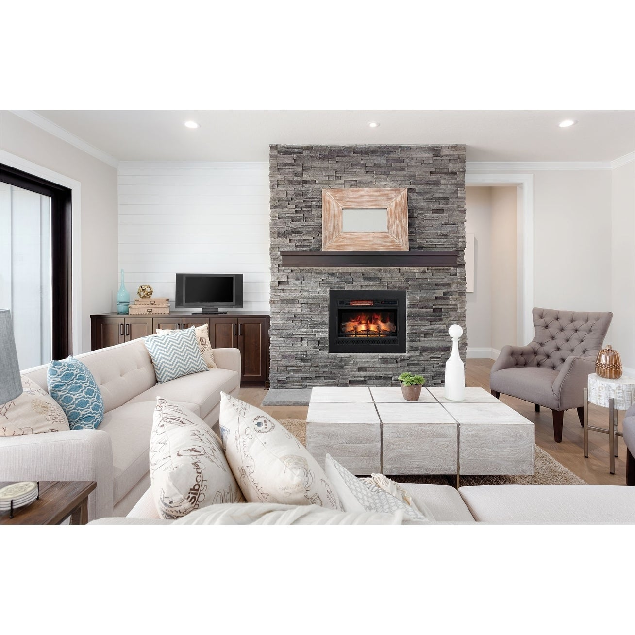 ClassicFlame 26 3D Infrared Quartz Electric Fireplace Insert 2e5276fe 9e71 40c0 882b 31ba ff