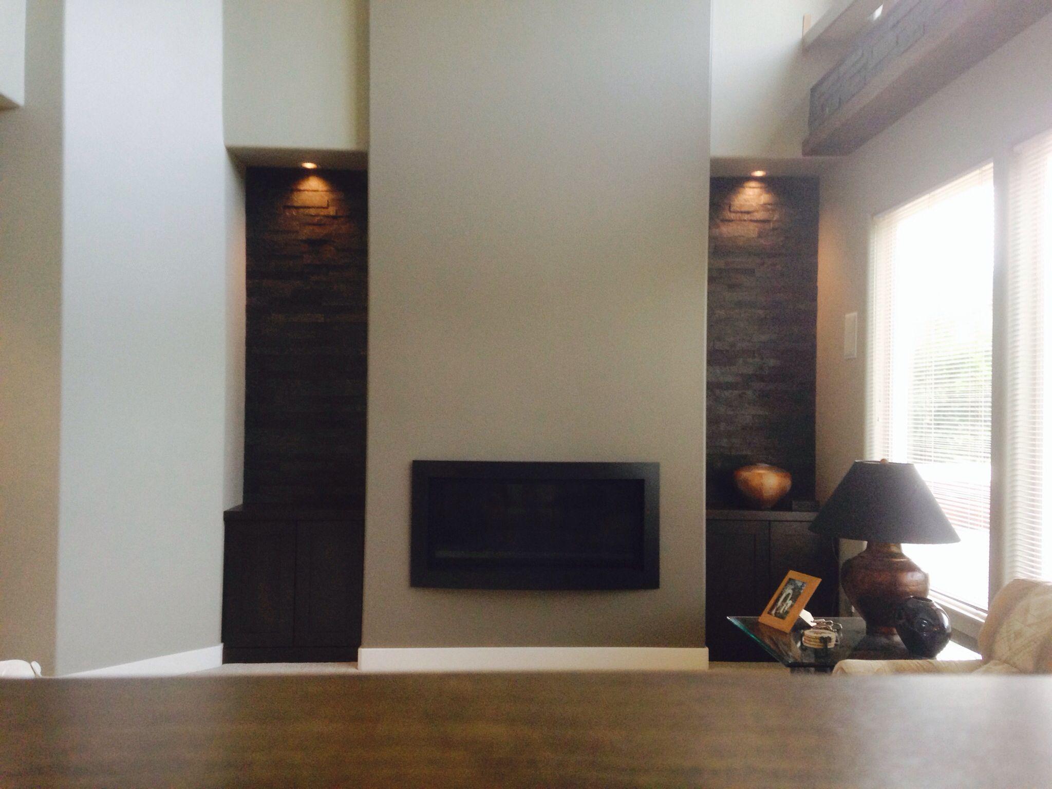 Contemporary Fireplace Screens Luxury Modern Fireplace Linear Fireplace Black Rock Tall