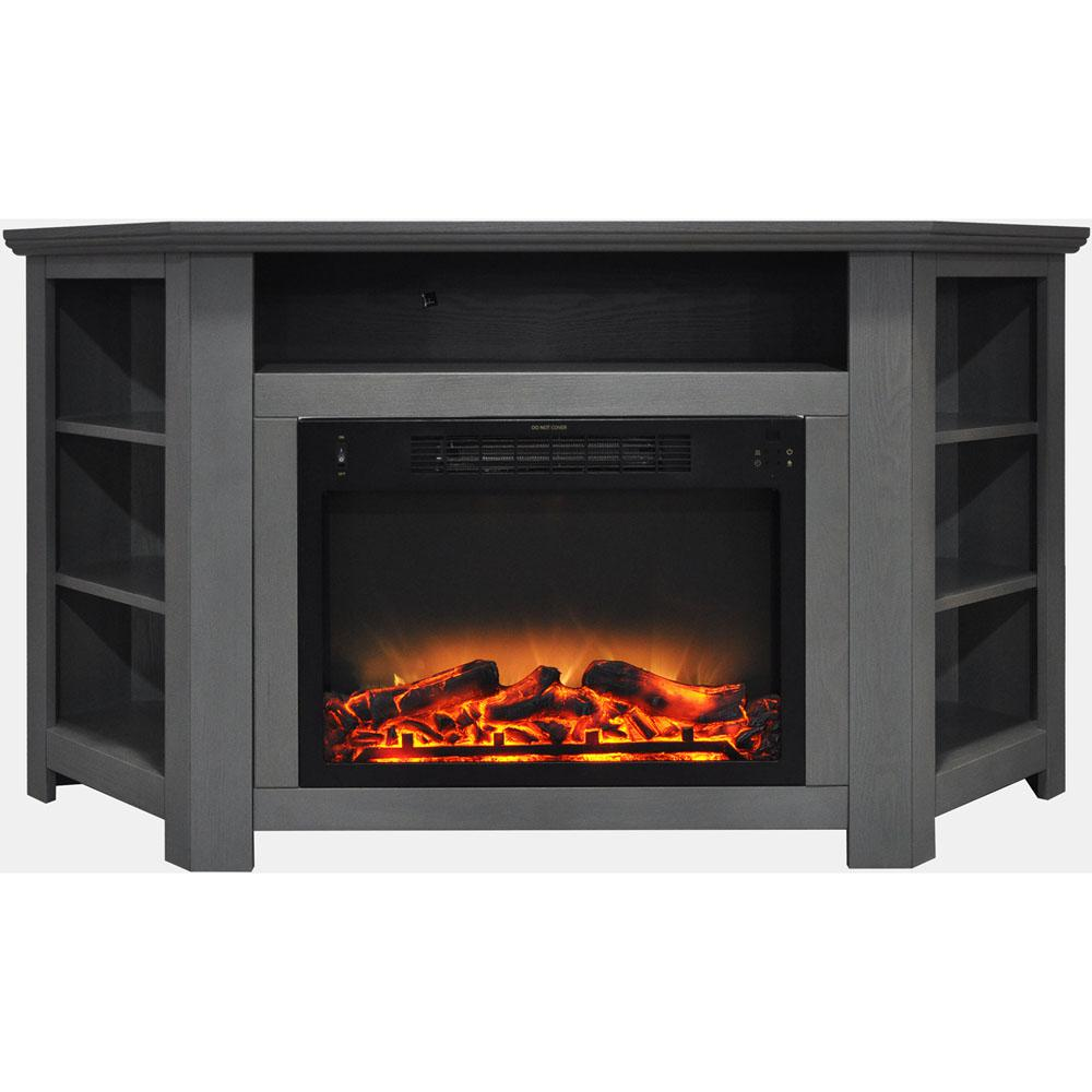 Corner Fireplace Heater Awesome Hanover Tyler Park 56 In Electric Corner Fireplace In Gray