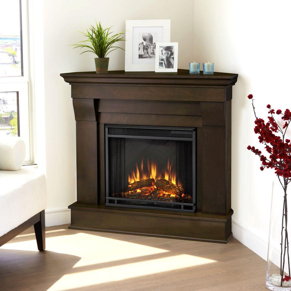 walnut real flame corner electric fireplaces 5950e dw 64 1000