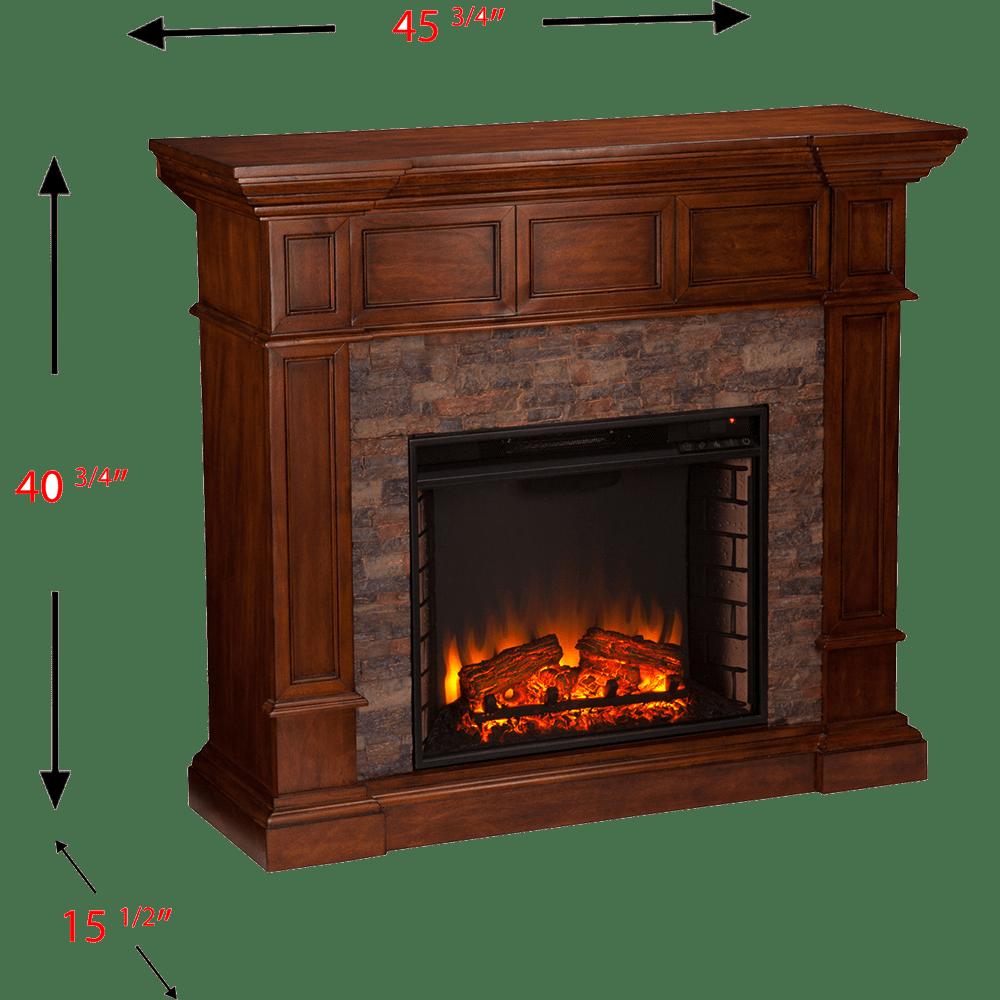 Corner Stone Electric Fireplace Elegant southern Enterprises Merrimack Simulated Stone Convertible Electric Fireplace