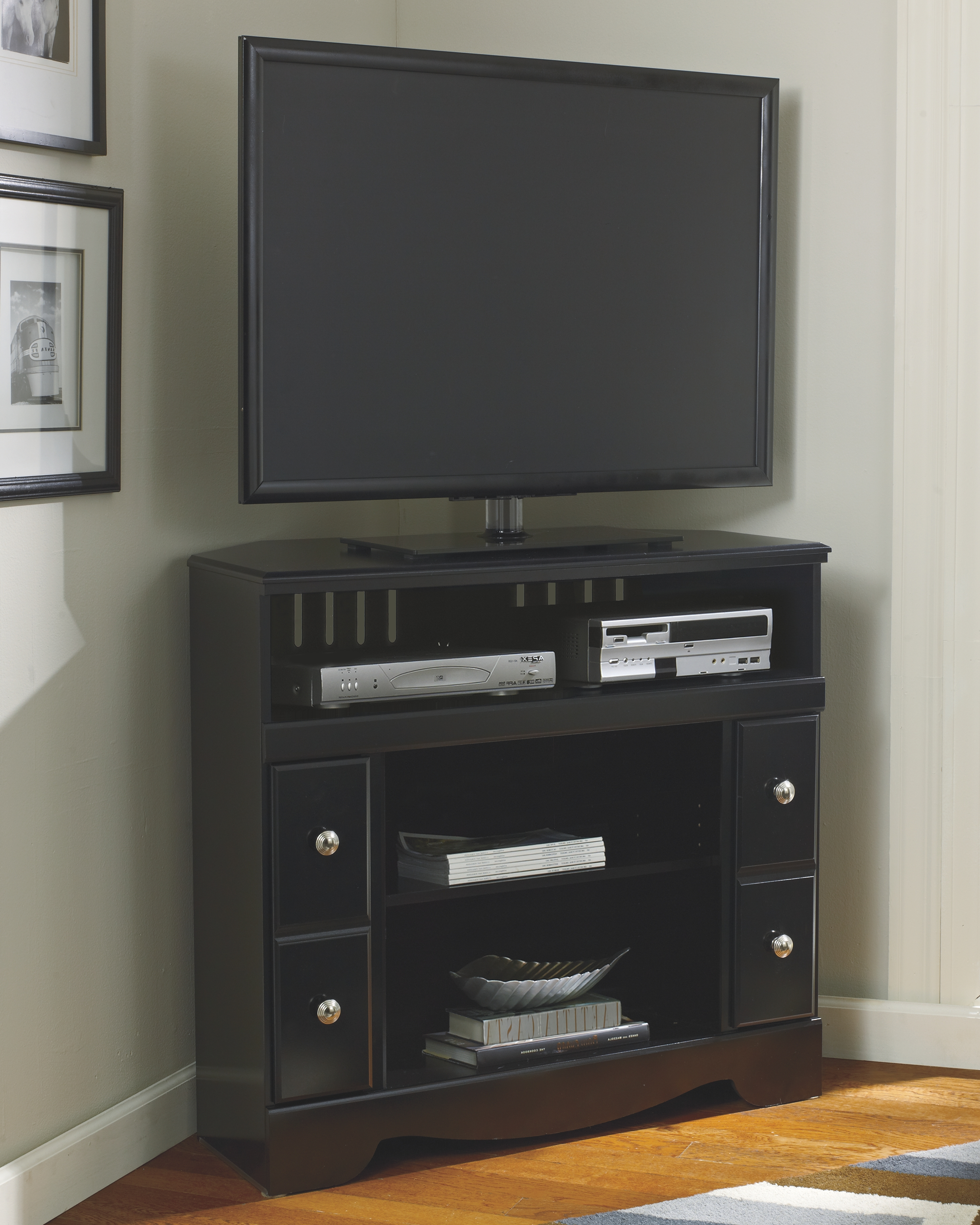 "Corner Tv Cabinet with Fireplace Inspirational Shay 38"" Corner Tv Stand In 2019 Products"