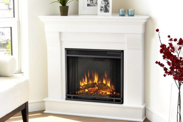 Corner Ventless Fireplace New Real Flame Chateau Corner Electric Fireplace White White
