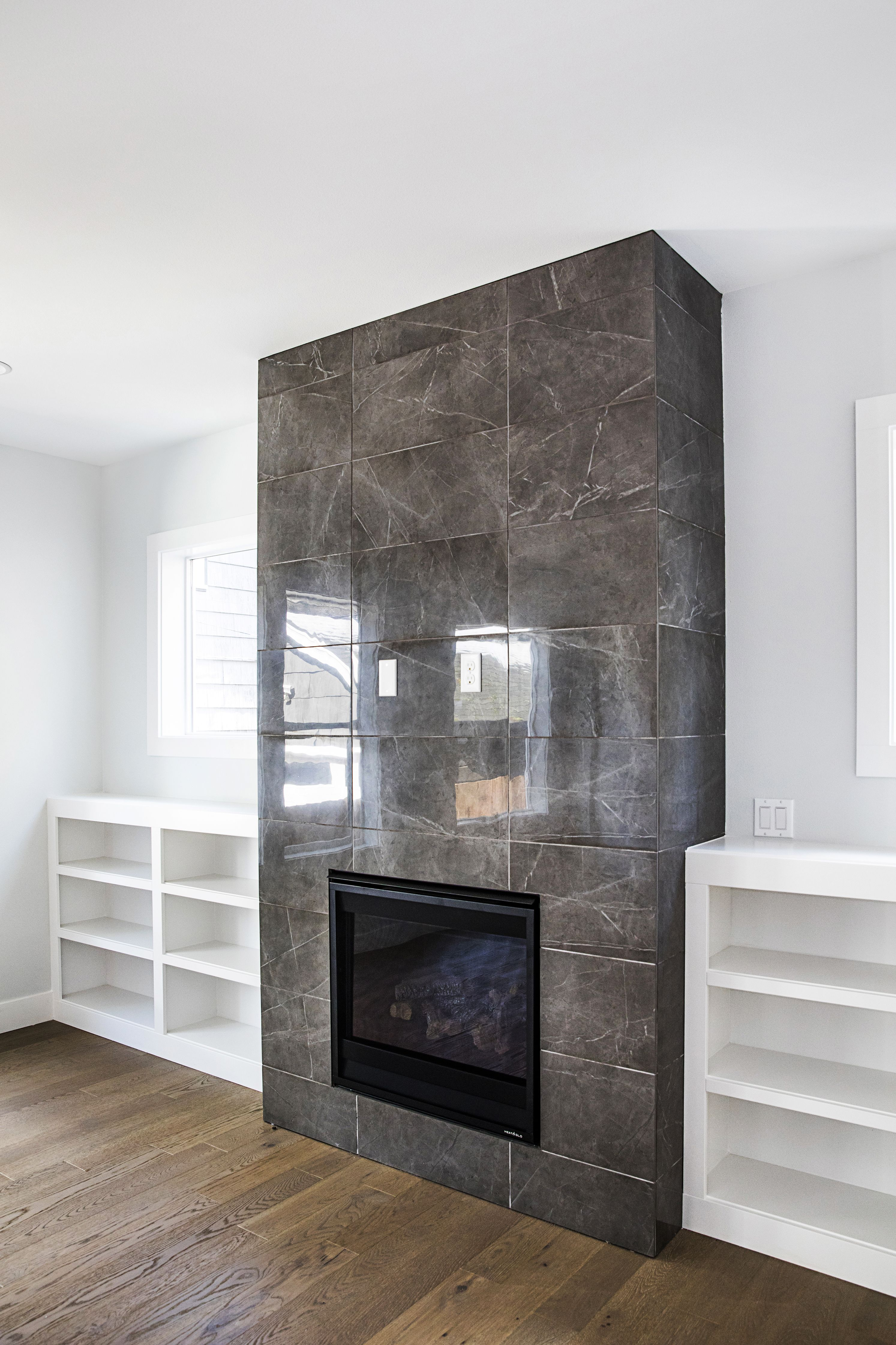 Cost to Remove Fireplace Awesome 12x24 Porcelain Tile On Fireplace Wall Clean and Price