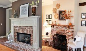 15 Inspirational Covering Brick Fireplace