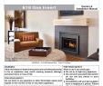 Custom Fireplace Insert Best Of Regency Fireplace Products E18 Installation Manual